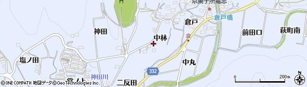 愛知県豊川市萩町(中林)周辺の地図