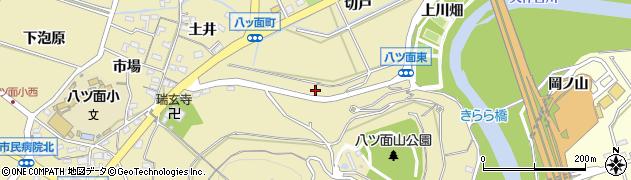 愛知県西尾市八ツ面町(山下)周辺の地図