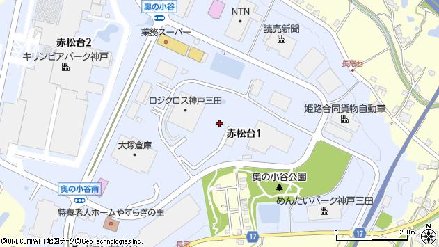 〒651-1516 兵庫県神戸市北区赤松台の地図