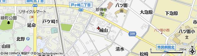愛知県西尾市戸ケ崎町(城山)周辺の地図