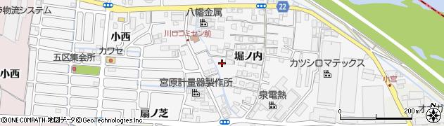 京都府八幡市川口周辺の地図