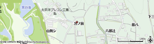愛知県豊川市上長山町(宮ノ前)周辺の地図