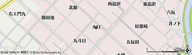 愛知県西尾市上永良町(大日)周辺の地図