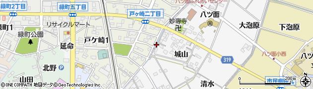 愛知県西尾市戸ケ崎町(亀田)周辺の地図