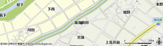 愛知県西尾市江原町(蓮池新田)周辺の地図
