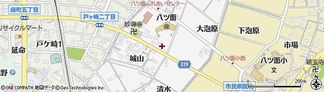愛知県西尾市戸ケ崎町周辺の地図