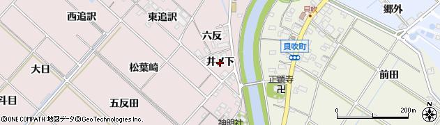 愛知県西尾市上永良町(井ノ下)周辺の地図