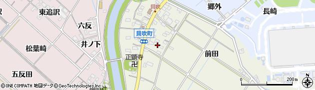 愛知県西尾市貝吹町(東郷廻)周辺の地図