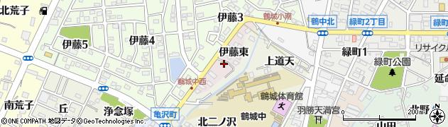 愛知県西尾市伊藤町(伊藤東)周辺の地図