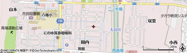 京都府八幡市八幡(園内)周辺の地図