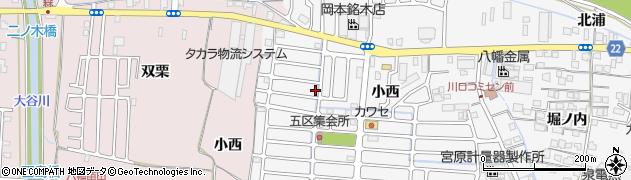 京都府八幡市川口(西扇)周辺の地図