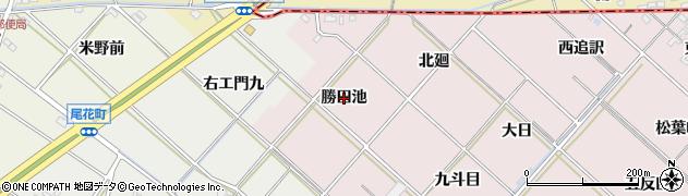 愛知県西尾市上永良町(勝田池)周辺の地図