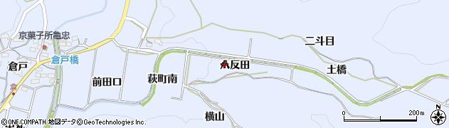愛知県豊川市萩町(八反田)周辺の地図