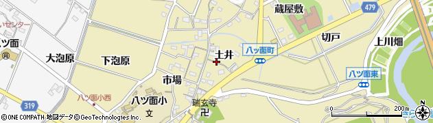 愛知県西尾市八ツ面町(土井)周辺の地図