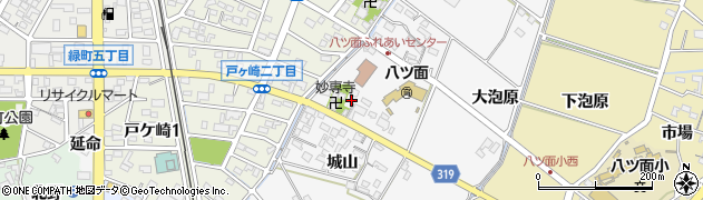 愛知県西尾市戸ケ崎町(堀合)周辺の地図