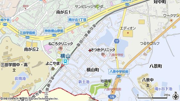 〒669-1534 兵庫県三田市横山町の地図
