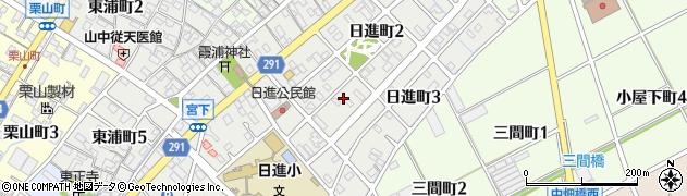 愛知県碧南市日進町周辺の地図