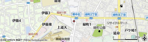 愛知県西尾市桜町(桜荒子)周辺の地図