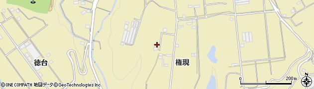 愛知県豊川市東上町(権現)周辺の地図