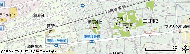 飯野神社周辺の地図