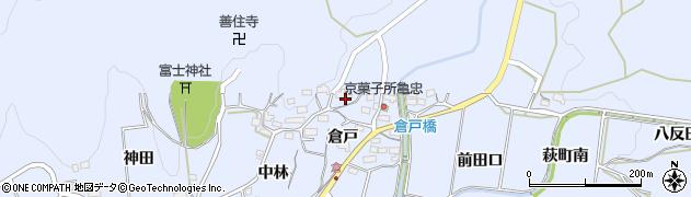 愛知県豊川市萩町(倉戸)周辺の地図