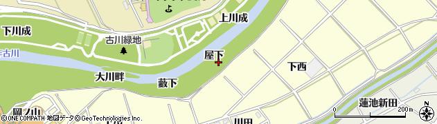 愛知県西尾市小島町(屋下)周辺の地図
