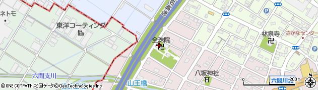 全珠院周辺の地図