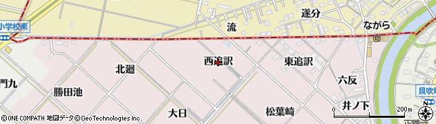 愛知県西尾市上永良町(西追訳)周辺の地図
