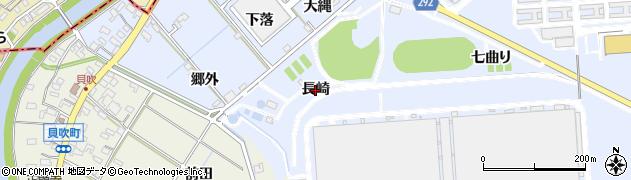 愛知県西尾市下羽角町(長崎)周辺の地図