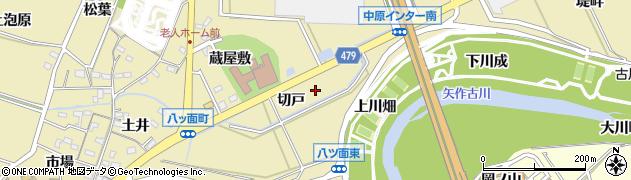 愛知県西尾市八ツ面町(切戸)周辺の地図