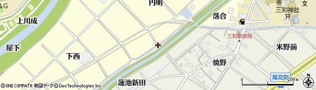 愛知県西尾市小島町(東川田)周辺の地図