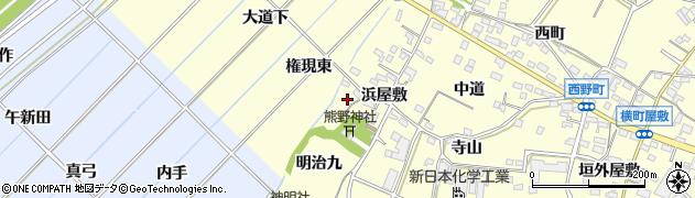 愛知県西尾市上町(藪下)周辺の地図