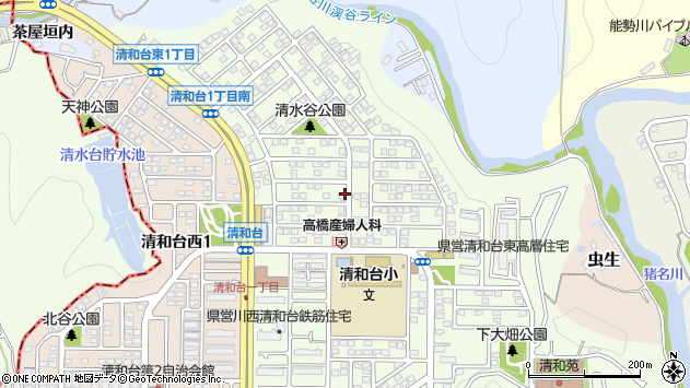 〒666-0142 兵庫県川西市清和台東の地図