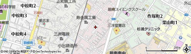 愛知県碧南市善明町周辺の地図