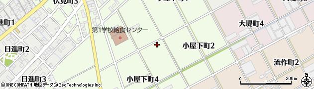 愛知県碧南市小屋下町周辺の地図