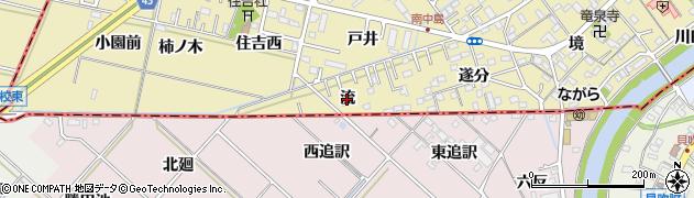愛知県岡崎市中島町(流)周辺の地図