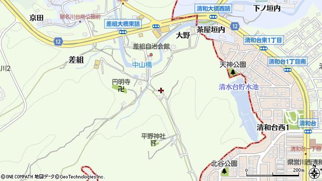 〒666-0253 兵庫県川辺郡猪名川町差組の地図