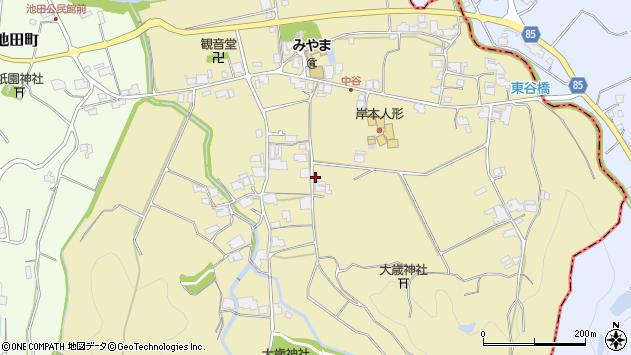〒675-1304 兵庫県小野市中谷町の地図