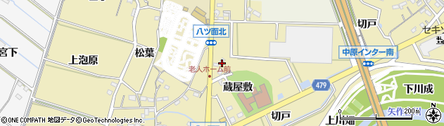 愛知県西尾市八ツ面町(後土)周辺の地図