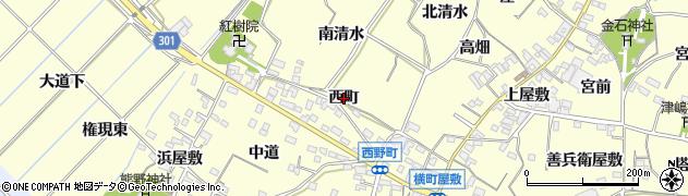 愛知県西尾市上町(西町)周辺の地図
