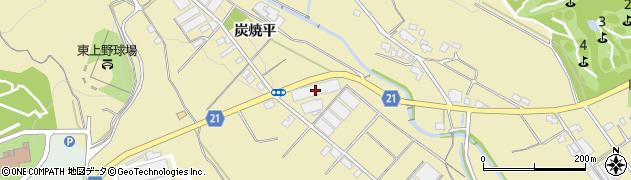 愛知県豊川市東上町(炭焼平)周辺の地図