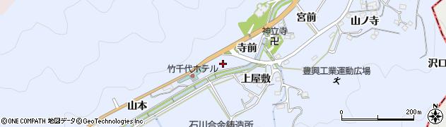 愛知県岡崎市鉢地町(細田)周辺の地図