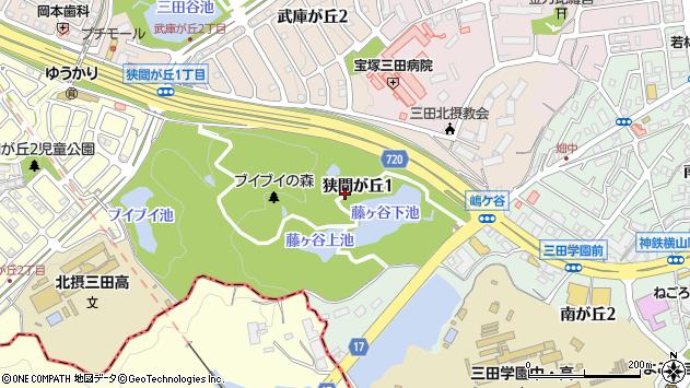 〒669-1545 兵庫県三田市狭間が丘の地図