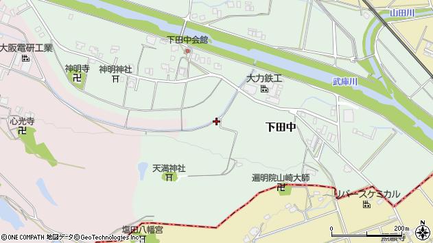 〒669-1522 兵庫県三田市下田中の地図