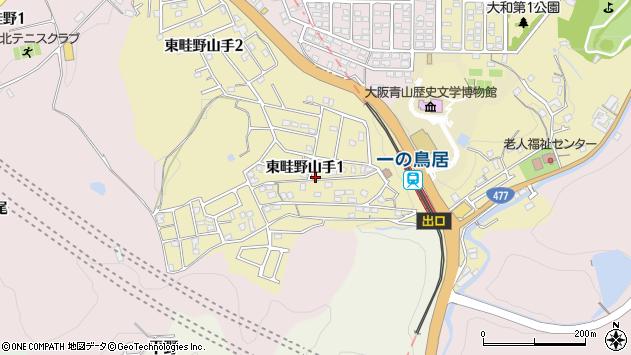 〒666-0114 兵庫県川西市東畦野山手の地図