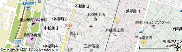 愛知県碧南市石橋町周辺の地図