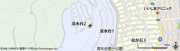 大阪府高槻市清水台周辺の地図