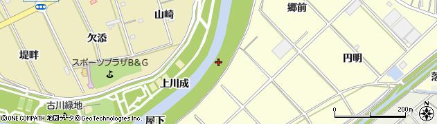 愛知県西尾市小島町(西堤畔)周辺の地図