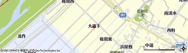 愛知県西尾市上町(大道下)周辺の地図