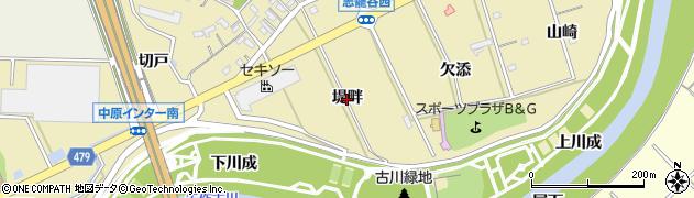 愛知県西尾市志籠谷町(堤畔)周辺の地図